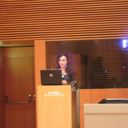 Ángela Díaz, responsible for sustainability and environment in Koan Consulting presenting TRAVELIFE
