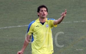 Aurelio, en el partido contra el Atlético de Ceuta