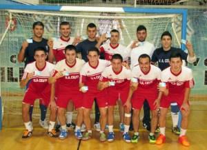 Los jugadores de la UA Ceutí FS apoyan la campaña de abonos del club