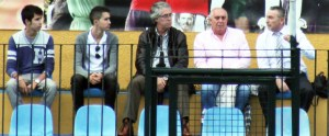 Imagen del palco del José Martínez 'Pirri', durante un partido del Atlético de Ceuta