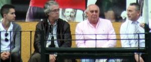 Muñoz y Gil, en el centro, durante un partido del Atlético de Ceuta