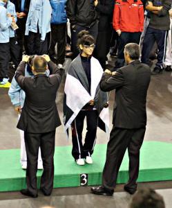 Noelia Martín logró el bronce en la categoría cadete -56 kgs.