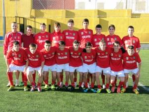 Kryos posa con los integrantes de la selección de Ceuta cadete