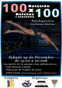 Reproducción del cartel anunciador de la prueba de relevos 100x100