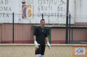 Goyo defendió la portería del Murallas de Ceuta la pasada temporada