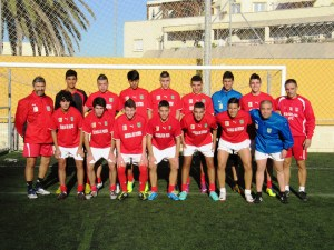 La selección juvenil, de Juanma Alamillos, tras el último entrenamiento