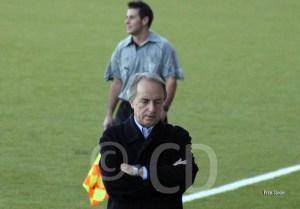 Álvaro Pérez, durante el partido de esta tarde en el Alfonso Murube