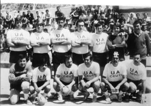 Equipo de la UA Ceutí con Fernández Maese y Juan Mur