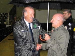Miguel Díez, cuando coincidió con Del Bosque en la inauguración del remozado Alfonso Murube