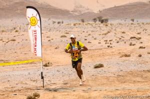 Dris, durante el Maratón de las Arenas, donde ha sido 10º y 11º en los dos últimos años