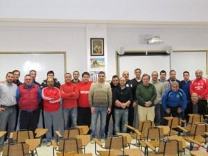 Foto de familia de la apertura oficial del Curso Nacional de Entrenadores