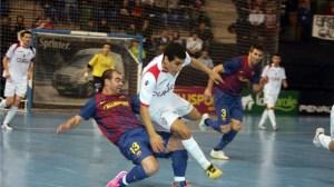 El Barça ha vuelto a interponerse en el camino del Santiago Futsal de Hamza