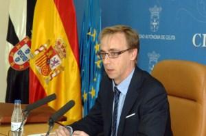 El portavoz del Ejecutivo, Guillermo Martínez, durante la rueda de prensa posterior al Consejo de Gobierno