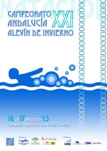 Cartel anunciador del XXI Campeonato de Andalucía Alevín de Invierno