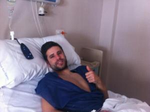 Félix pasó por el quirófano y espera volver plenamente recuperado a los terrenos de juego