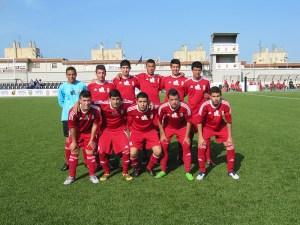El Atlético de Ceuta presentó este 'once' en la segunda semif