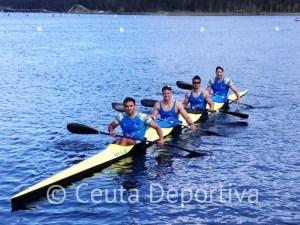 El K-4 de Los Delfines ha estado a gran altura en Pontevedra