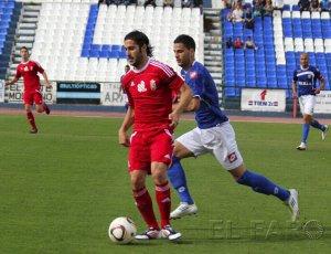 Andrés, que llegó procedente de la AD Ceuta, uno de los foráneos esta temporada de la UD Melilla