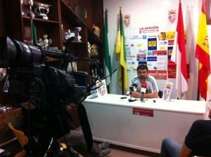 José Carlos Jiménez 'Mane' habló después del partido al no poder viajar Álvaro Pérez al Puerto