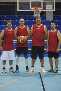 Los cuatro integrantes del Don Benito's Team, campeón de la I Liga 3x3 + 100