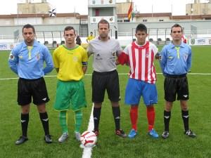 Dris Ahmed, en la imagen en un partido de Liga Nacional, no pitó el Sporting-Super Sport tras ser zarandeado por responsables del equipo sportinguista