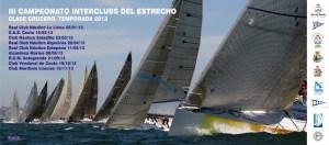Cartel anunciador del III Campeonato de Cruceros Interclubs del Estrecho
