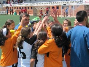 La selección de Ceuta sub-12 femenina, antes de enfrentarse a las cántabras