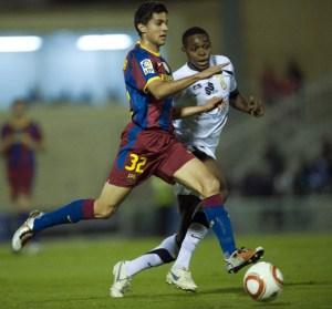 Raoul Loe, durante el AD Ceuta - FC Barcelona de la Copa del Rey en 2010