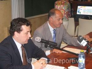 Javier Sánchez-Paris Contreras junto a Rafael Camino, presidente de la AADD