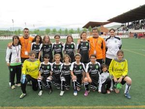 Las alevines que participaron en el Campeonato de España también estarán el sábado en el Murube