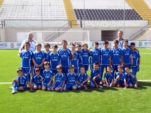 En la imagen, el grupo de 55 niños con el que ha arrancado el IV Campus 'Emilio Cózar'