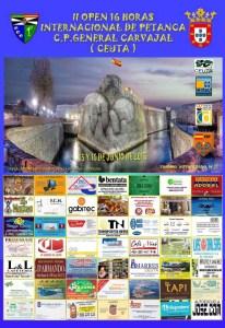 Cartel anunciador del II Open 16 Horas Internacional de Petanca