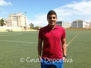 Hamza participó el lunes en la inauguración del 'Campus de Convivencia' organizado por el CD Natación Ceuta