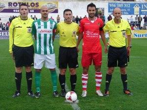 Arias Madrid en un partido de los dirigidos esta temporada junto a Juan Pablo Ramos y Abdelmumin Mehdi