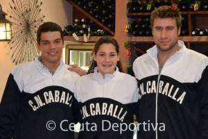 Vicente Matoso, Lorena Miranda y Guillermo Molina, en una imagen de archivo