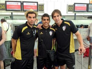 Hamza junto a sus compañeros de equipo Barroso y Brandi