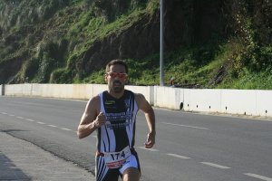 Jorge Ávalos, en una prueba de triatlón, es el nuevo preparador físico de la AD Ceuta FC