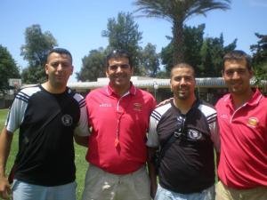 Hosman Mohamed, el segundo por la derecha, junto a Reduan Fadel, Naufal Uariachi y Miguel Ángel Hoyo en el Campus de Uariachi de 2009