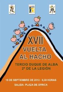 Imagen del cartel de la XVII Vuelta al Monte Hacho, que se disputa este domingo