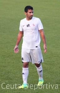 Ernesto García, durante el partido del pasado domingo frente al CD Alcalá