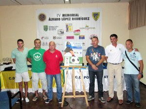 Imagen del acto de presentación del IV Memorial 'Álvaro López Rodríguez' de fútbol 8