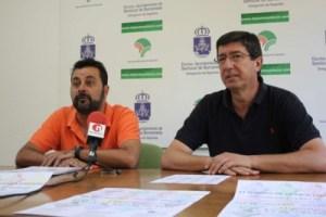 El concejal de deportes de Sanlúcar, Juan Martín, y el responsable del CD Luci Feri Fanum, Ramón Caballero, presentaron el torneo