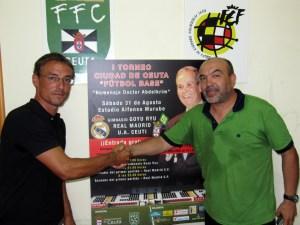 Juanma Alamillos y Fuad Harrus se desean suerte antes del torneo