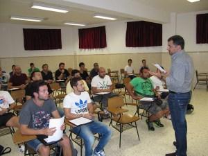 Sergio Ramos, presidente del comité de entrenadores, abrió el curso de monitor base de fútbol 8 y fútbol sala