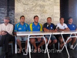 De izquierda a derecha, Miguel Ángel Pérez, Mario García, Víctor Gutiérrez, Sergio Aguilera, Javier Cáceres y Paco Molina