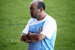 Fuad Harrus, pensativo en el Alfonso Murube durante el triangular del pasado sábado