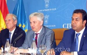 José Venancio López, durante su comparecencia de prensa en el Palacio de la Asamblea