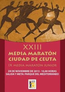 Reproducción del cartel anunciador de la XXIII Media Maratón 'Ciudad de Ceuta' que se celebra este domingo