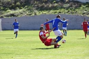Un lance del partido disputado el pasado viernes por la AD Ceuta ante el Xerez en Medina Sidonia