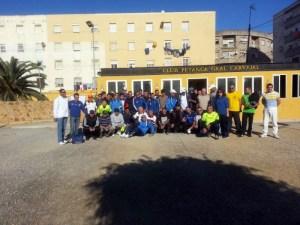 Los participantes posan en las instalaciones del CP General Carvajal